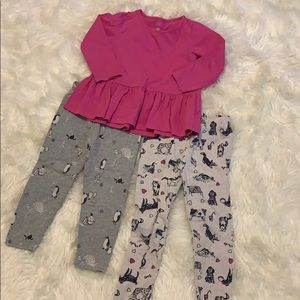 Gap shirt with 2 pant options 3T